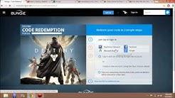 Destiny Beta - How to redeem your beta code on Bungie.net
