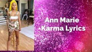Ann Marie- Karma Lyrics