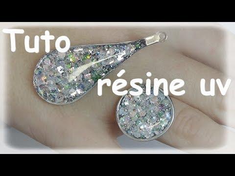 ★Tuto résine uv: bijoux diamant