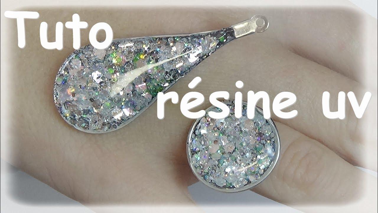 Uv resin tutorial diamond jewelry