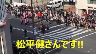 徳川の屋上から家康行列を撮影しました! 松平健さんにまりこ大興奮!!