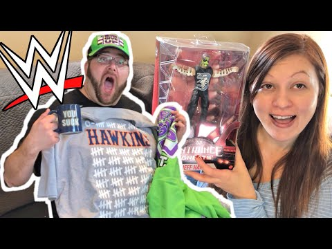 CRAZIEST WWE MOTHERLOAD UNBOXING! Jeff Hardy! SLAM CRATE! WWE Shop! Hawkins T-shirt!