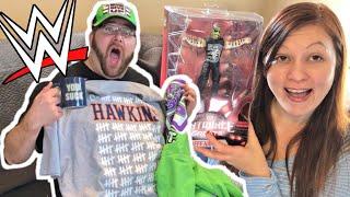 CRAZIEST WWE MOTHERLOAD UNBOXING! Jeff Hardy! SLAM CRATE! WWE Shop! Hawkins T-shirt!