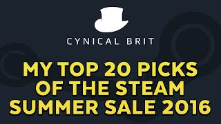 My top 20 picks of the Steam summer sale 2016