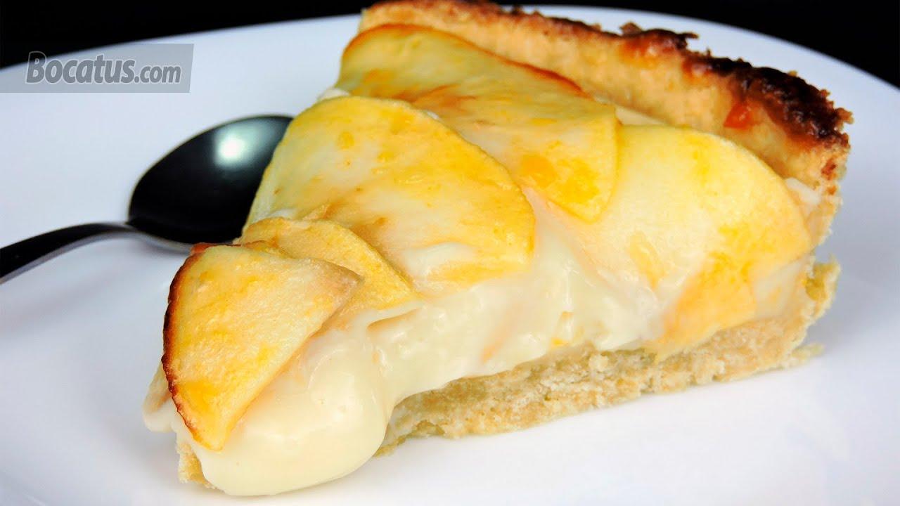 Receta De Tarta De Manzana Con Crema Pastelera Youtube