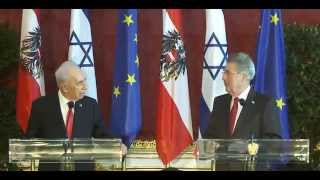 Press Conference Heinz Fischer and Shimon Peres in Vienna