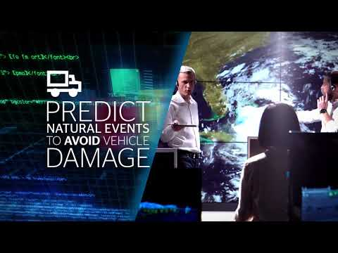 Discover in this video how Atos can predict natural events to avoid vehicle damage....