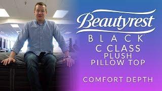 beautyrest black c class plush pillow top mattress comfort depth 1