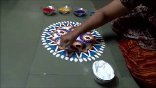 Easy rangoli Design by Kshama - 6 Special Rangoli Design Morning rangoli design