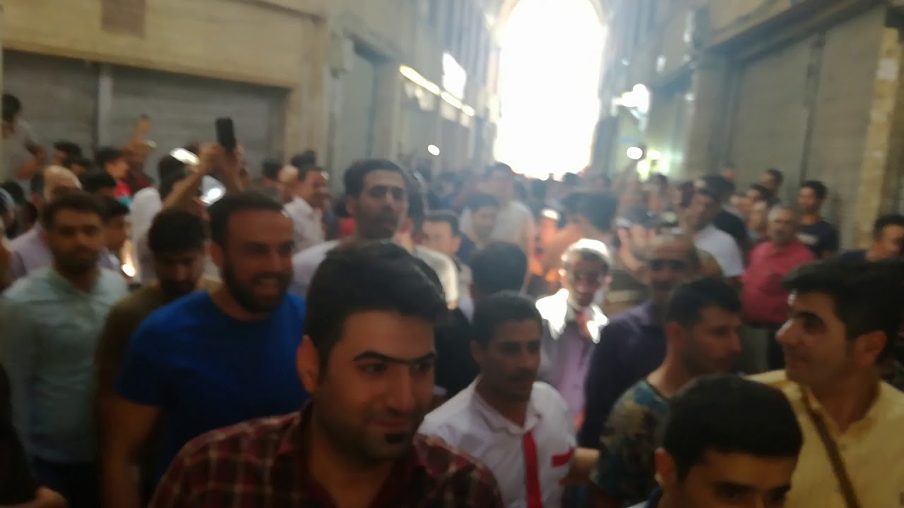TEHRAN, June 26, Protest gatherings in Great Bazaar with slogans of: No fear, no fear, we are united