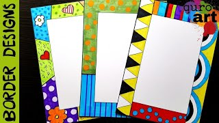 Britto 3 Border designs on paper border designs project work designs borders for projects