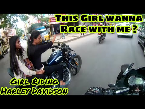 Girl Riding Harley Davidson | Rider Girl | Rash driving