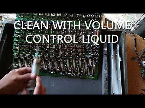 HOW TO CLEAN AUDIO MIXER VOLUME CONTROL