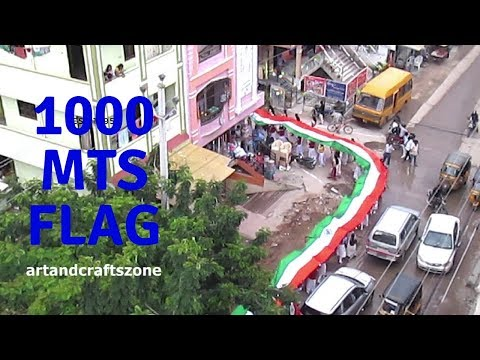 1000 meters long National Flag |Happy Independence Day 2017 | Special Video