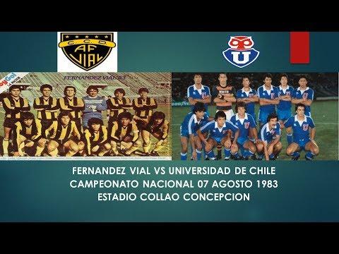 Fernandez Vial vs Universidad de Chile Campeonato Nacional 1983