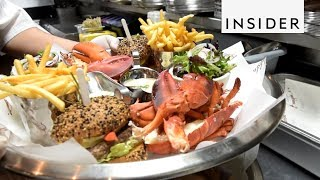 Lobster Burger Tower
