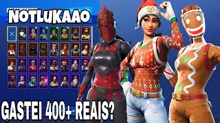 SHOWING MY SKINS ON FORTINITE MOBILE-* I bought the Biscoita *-Fortnite Battle Royale
