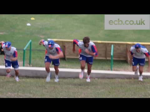 Strength and Conditioning England training with Plunkett, Lyth, Bairstow & Wood