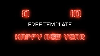 New Year Countdown - After Effects Project | Free Download | Free Plugin | OMER J GRAPHICS