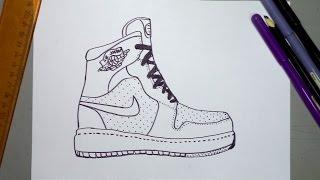 Cómo dibujar unas tenis Nike Jordan
