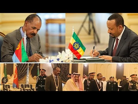 Photos: Eritrea, Ethiopia leaders sign peace deal in Saudi,