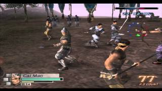 Dynasty Warriors 4 Empires: Generic Warrior (Cai Mao) Gameplay