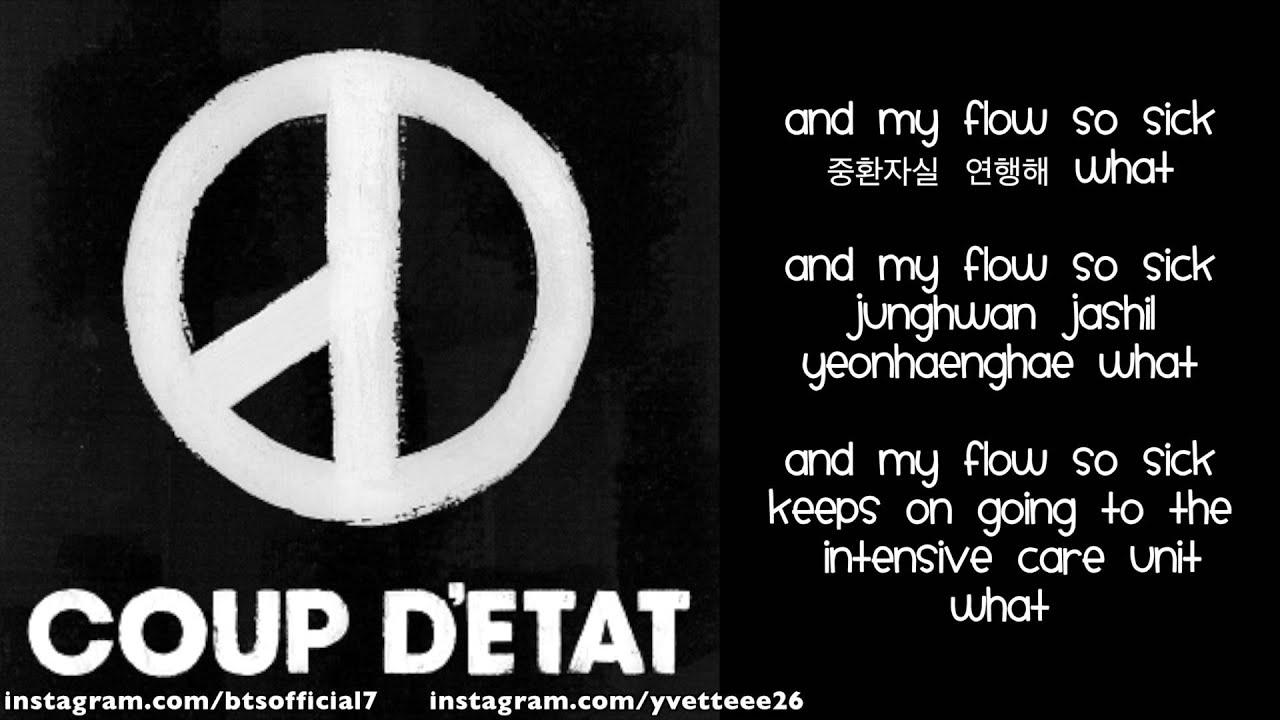 G Dragon - Coup D'etat (English/Romanized/Hangul) lyrics by kpoplovesu