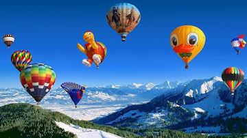 Air Balloon Festivals,chateau-D-Oex,Switzerland