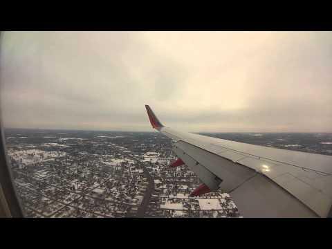 GoPro Southwest 737-700 Rough Landing in Flint, Michigan