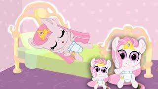 рождение малышки СЕЛЕСТИИ.Розовая семья карманной пони.My little pony