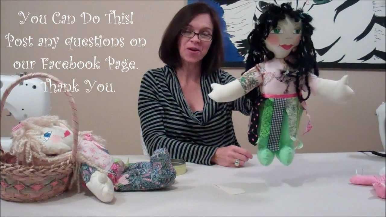 How 2 Make A Whimsical Rag Doll Youtube