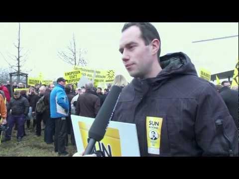 Einspeisen statt abspeisen! Protest bei SMA, 23.02.2012