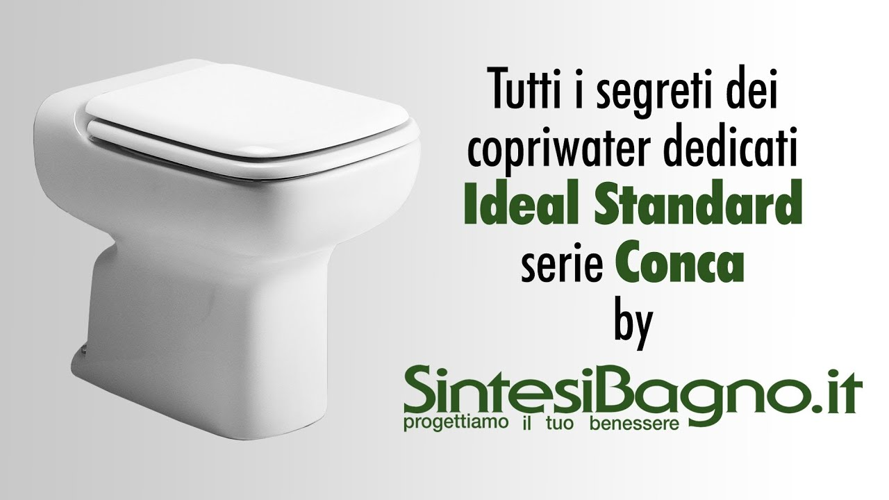 Ideal Standard Sedile Conca.Copriwater Ideal Standard Conca Bianchi Colorati Sedili Dedicati Youtube