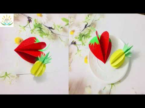 Diy Fruits  3D origami  - Easy channel