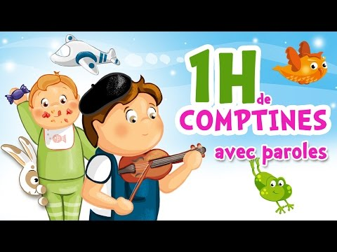 1H of French Nursery Rhymes with gesture for kids and babies (Under the moonlight, A green mouse...)