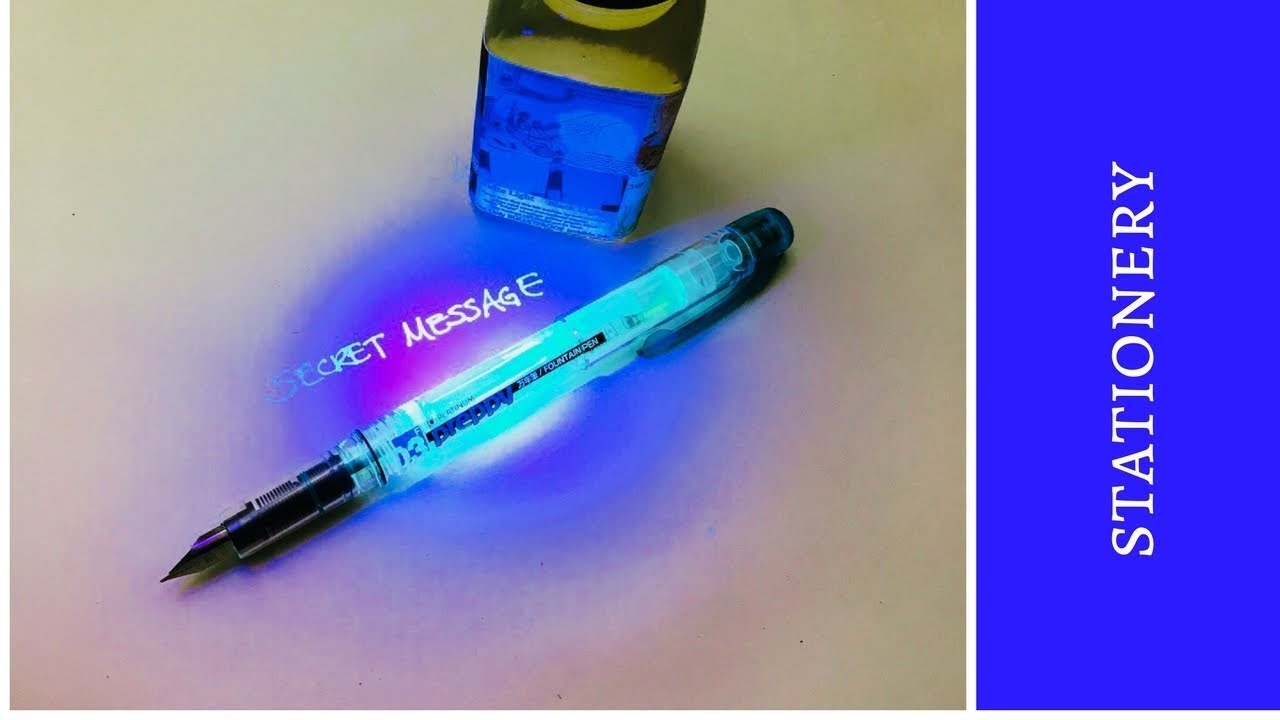 how to make an invisible ink fountain pen diy youtube. Black Bedroom Furniture Sets. Home Design Ideas