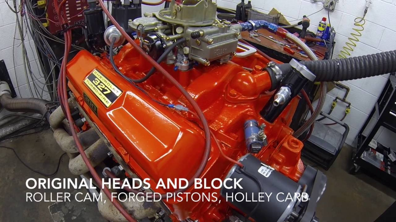 medium resolution of 327 small block chevy restoration youtube chevy 327 engine diagram