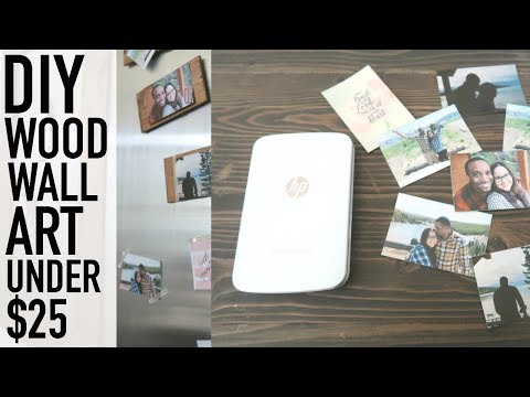 DIY WALL ART UNDER $25 | DIY OFFICE DECOR | FEATURING THE HP SPROCKET PLUS