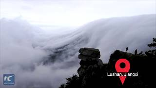 Sea of clouds in Lushan Mountain