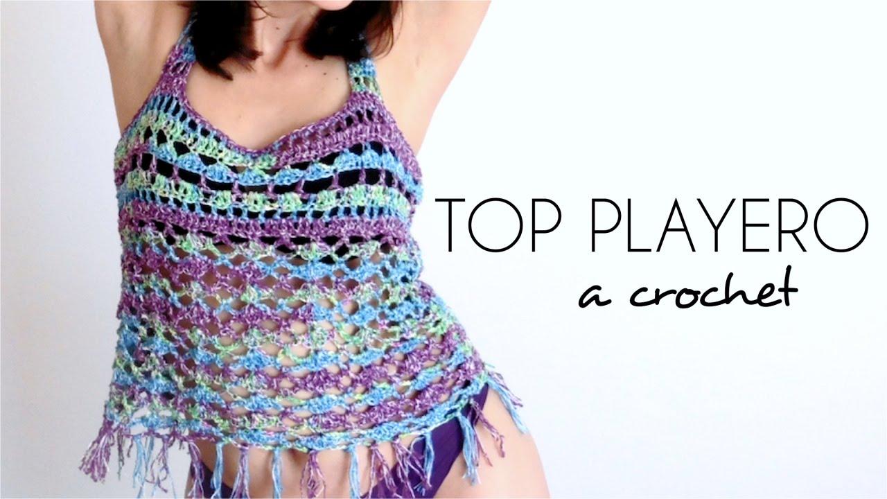 TOP PLAYERO a crochet | BLUSA TEJIDA paso a paso (ENGLISH SUB ...