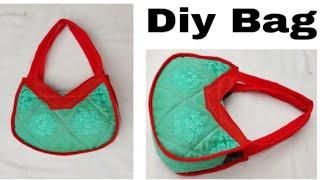 कुरती के बचे हुए कतरन से बनाये शानदार बैग / market bag ll shopping bag ll lunch bag ll shoulder bag