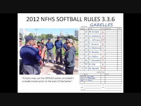 2012 NFHS Softball DP Flex Rule 3.3.6 Visualized