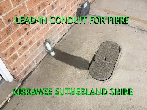 CONDUIT FOR FIBRE LEAD-IN CABLE | KIRRAWEE | SUTHERLAND SHIRE