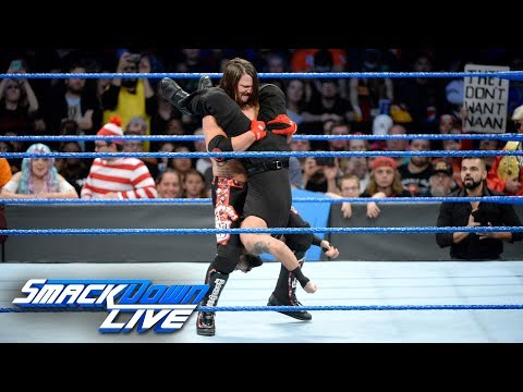 AJ Styles makes quick work of Samir Singh: SmackDown LIVE, Oct. 31, 2017