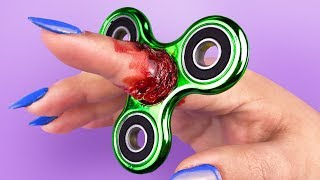 FIDGET SPINNER STUCK ON MY FINGER! - 6 EASY DIY Halloween PRANKS