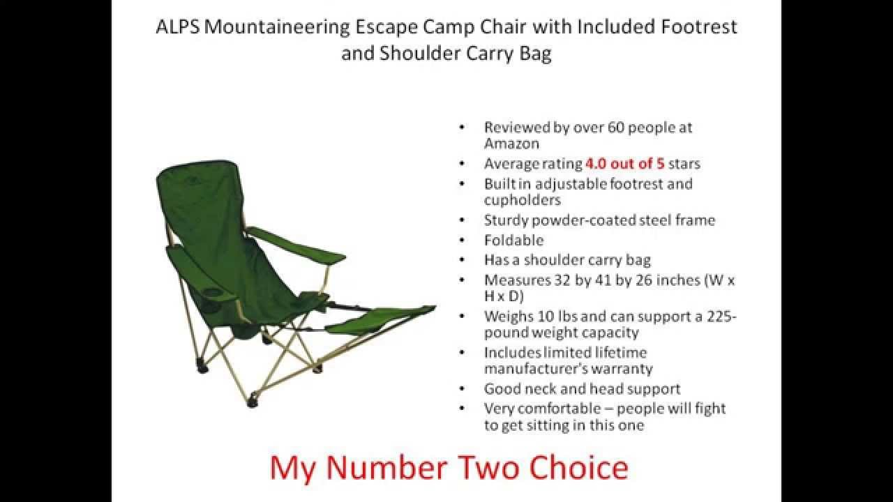 Folding camping chairs with footrest - Best Camping Chair With Footrest Top 3 Chairs Reviewed