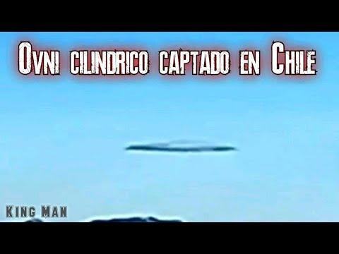 Ovni Cilindrico grabado en Santiago de Chile, en Cerro Marmolejo