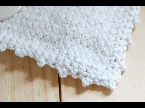 How To: Crochet Picot Edge on Washcloth - YouTube