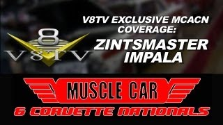 1962 Zintsmaster Impala Drag Car - 2012 Muscle Car & Corvette Nationals MCACN Video Coverage V8TV
