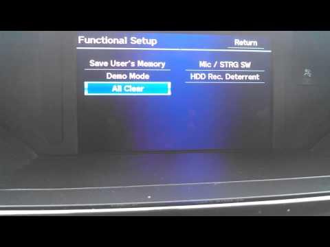 09-15 Honda Pilot Navigation Reset, Clear Navi, Delete GPS info